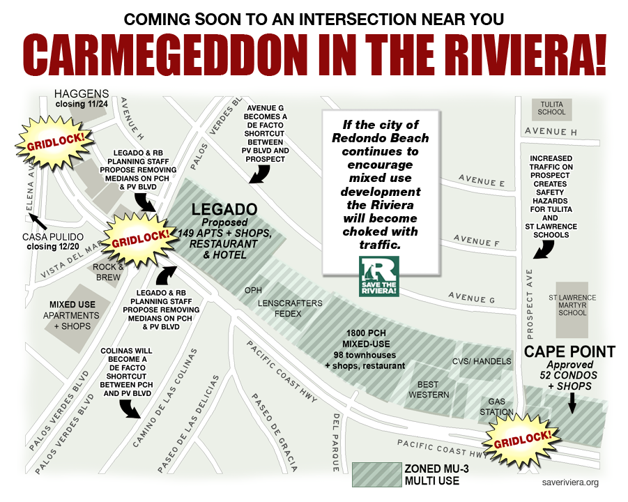 Redondo Beach Carmegeddon to a Riviera in your town!